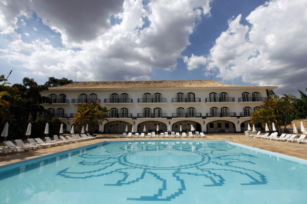 A view of the pool at the San Raphael Country Hotel where Russia's national soccer team will be based during the 2014 World Cup in Itu, Brazil.