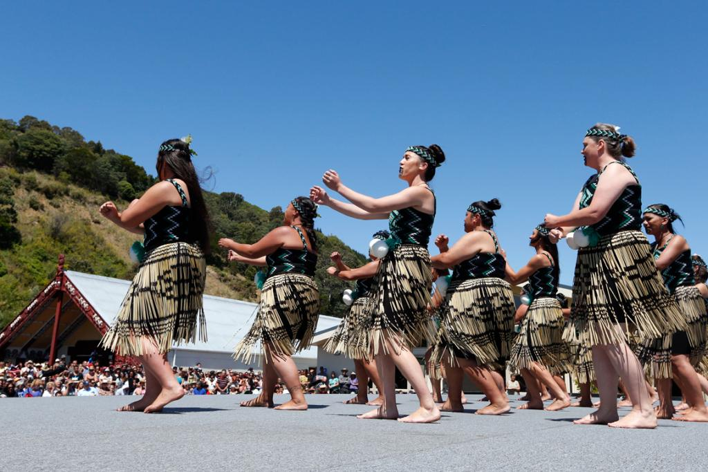 SONG AND DANCE: A large crowd watched the Kapahaka group Whati Kura perform at Whakatu Marae.