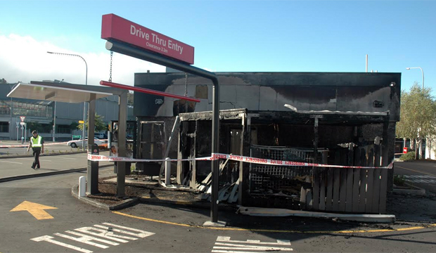 HOT AND SPICY: KFC in Upper Hutt, which was badly damaged by fire.