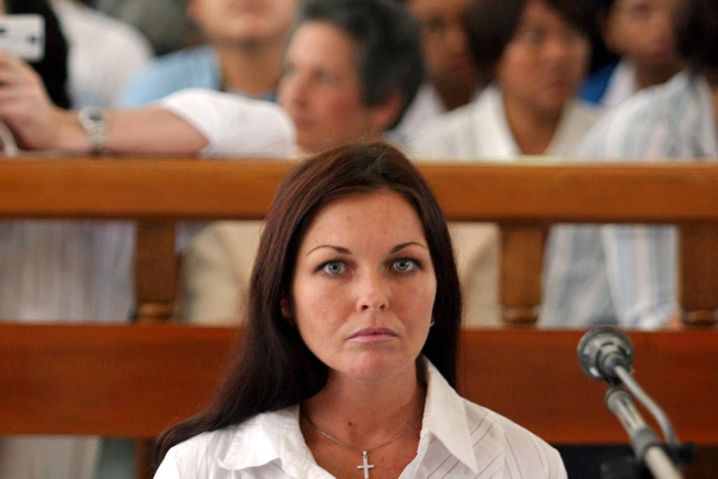 Australian beauty therapist Schapelle Corby attends her trial in a Denpasar court on the Indonesian resort island of Bali on July 20, 2005.
