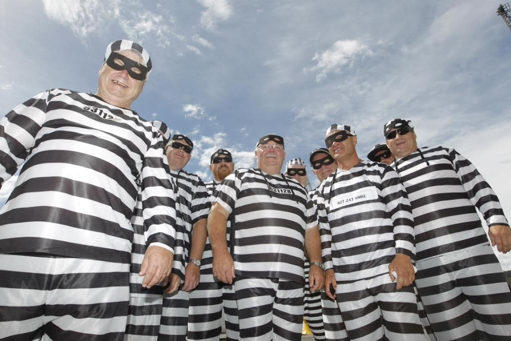 These guys escaped from jail just to join the celebrations.
