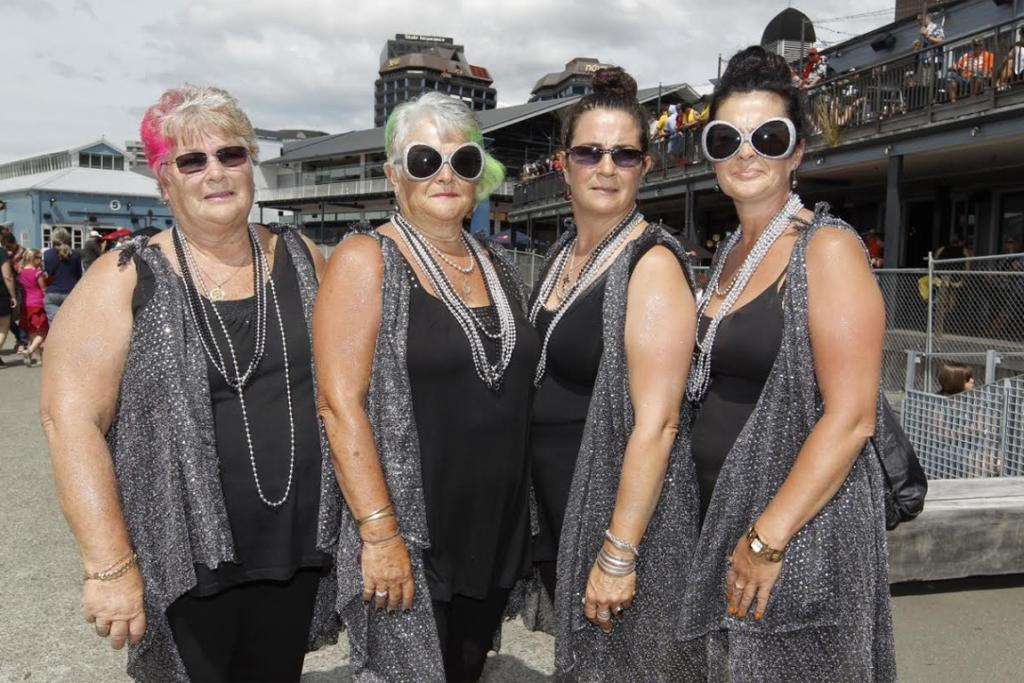Judy Brokenshire, Lyn Weir, Dale Thompson and Tracey Hall have been coming to the sevens for 14 years and counting.