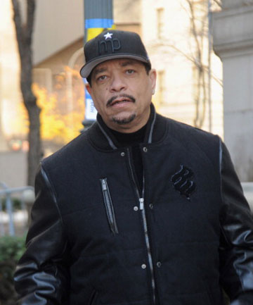 NO FAN: Figuring he'd just be turning up to read a book, Ice-T was confused as to his surprise role.