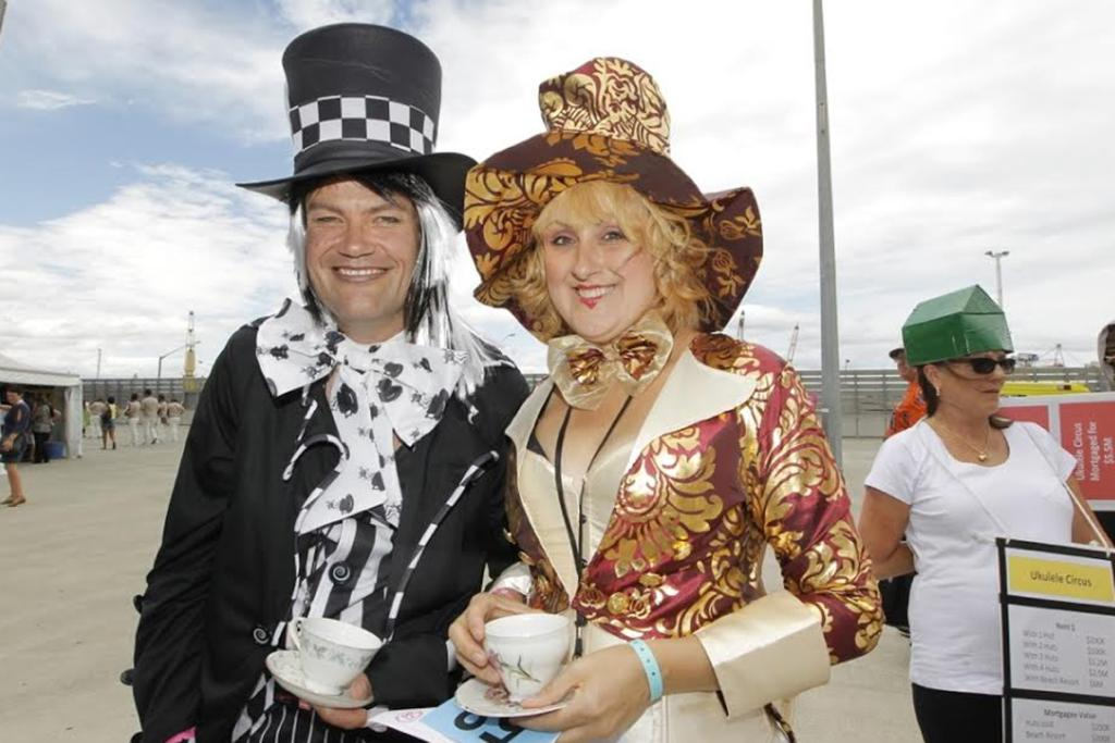 Mad hatters Clint and Teresa McKenzie.