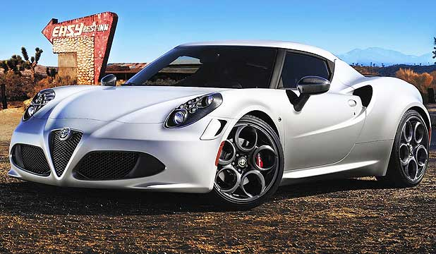 Alfa Romeo 4C: Voted the world's most beautiful.