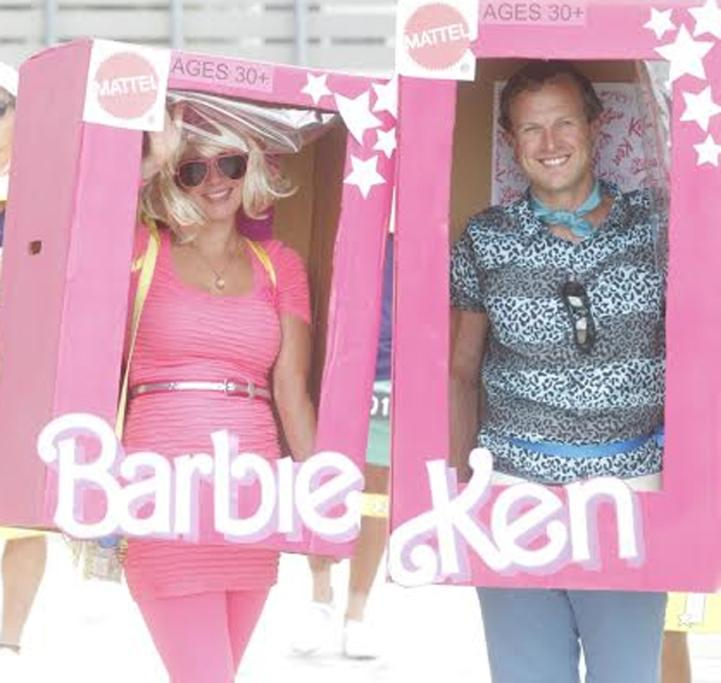 Wellington's Abigail Moir and Johnny Crothers as Ken and Barbie.