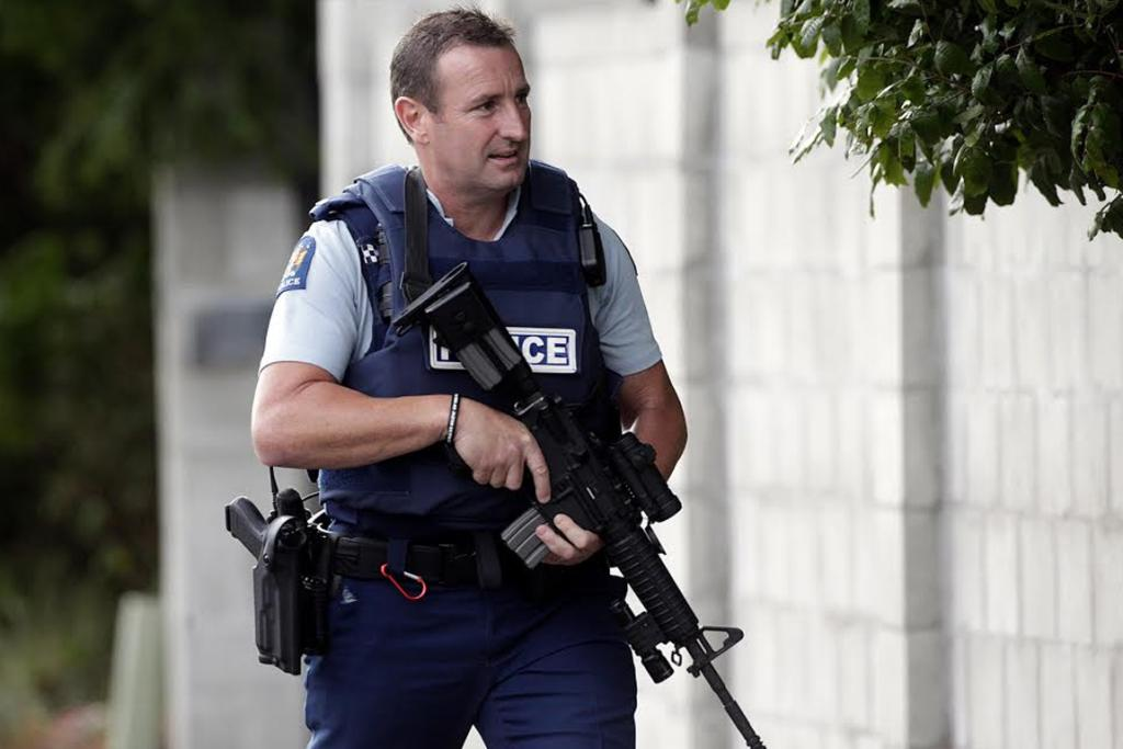 Armed police were called to a house on Russell Street, Palmerston North, were a man was found dead.