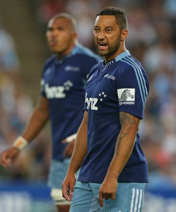 FINDING HIS FEET: Benji Marshall struggled in the first half as the Blues were under pressure from the Waratahs.