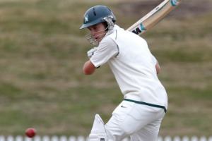 Central Districts' Ben Smith faces a delivery against the Otago Volts