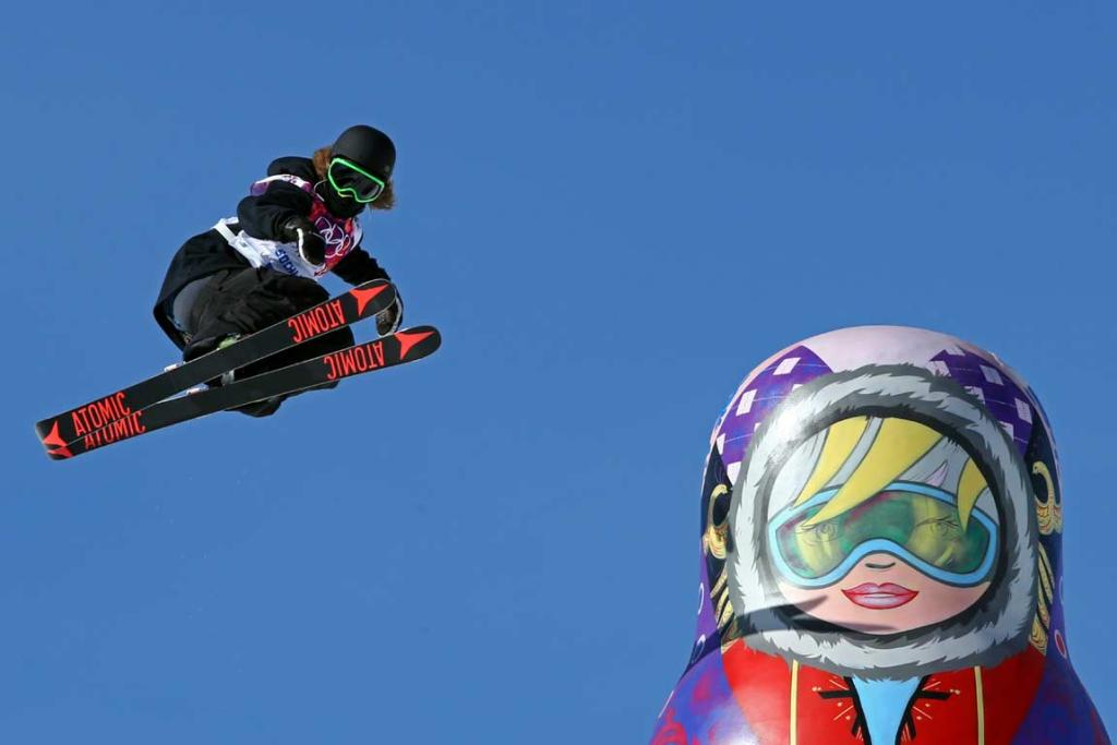 Beau-James Wells gets some air during the men's ski slopestyle practice.