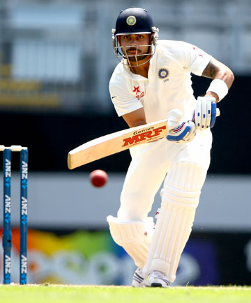 OMINOUS FORM: Virat Kohli bought up his half century in the opening session.