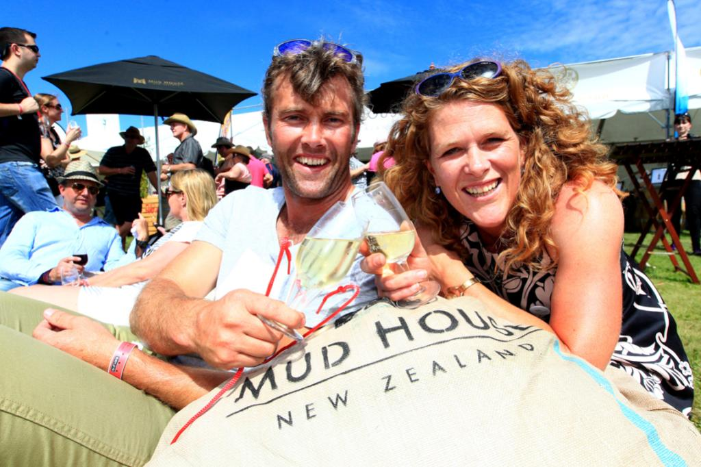 Mudhouse Wines - winners of the best site. Cleighten Cornelius, winemaker and Lou Miller, CEO