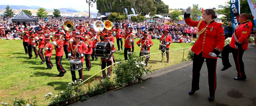 The New Zealand Army band