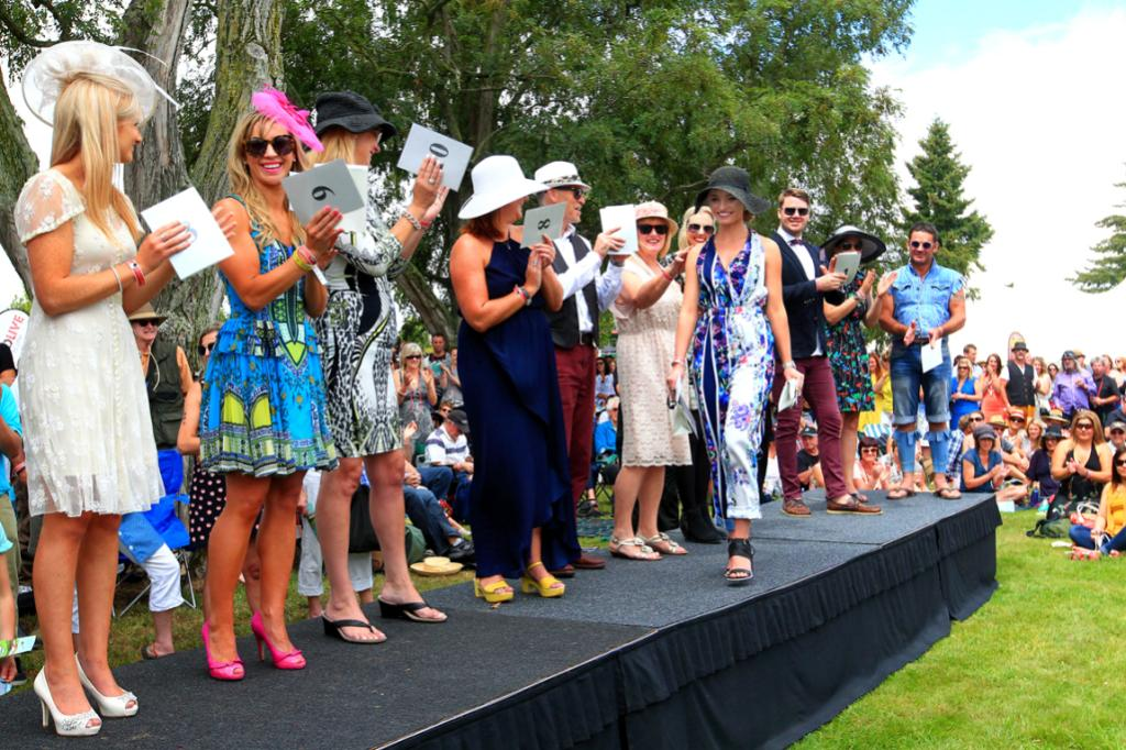 Thomas's fashion in the Vines winner Rachel Crampton walks down the catwalk after being named supreme champion.