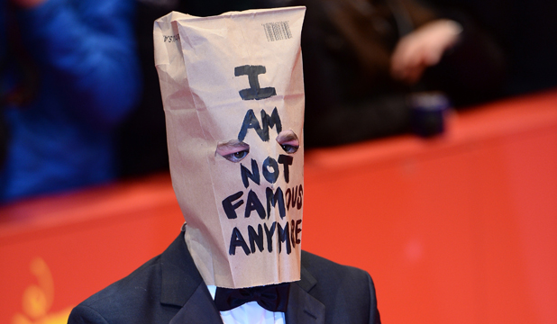 MAKING A STATEMENT: Shia LaBeouf poses on the red carpet at the Nymphomaniac premiere in Berlin.