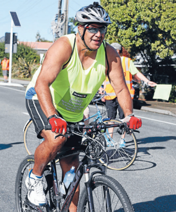ON THE MOVE:  Barney Thomas, of Nelson, competes in the Iron Maori event at Broadgreen Intermediate.