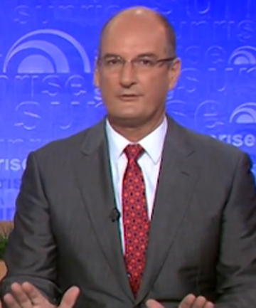 NOT AMUSED: David Koch.