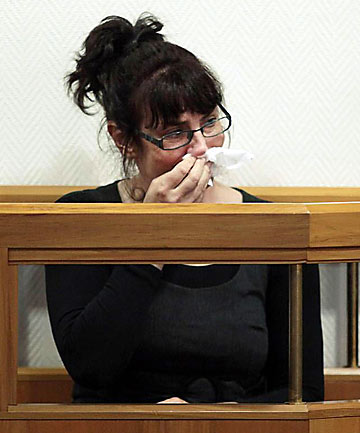 """TEARFUL: Scollay allegedly grew frustrated with her """"obviously quite brilliant husband""""."""