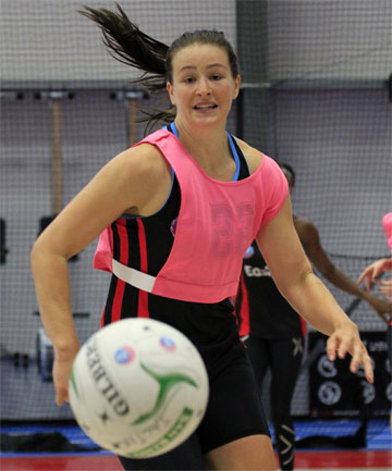 FRESH START: Jessica Moulds chases after a loose ball during Tactix training. The side compete in the trans-Tasman netball league's pre-season tournament from Friday to Sunday.