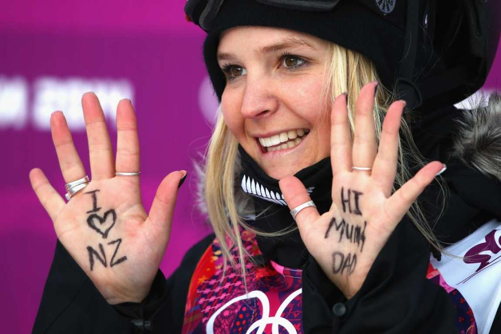 Anna Willcox has a message for back home after her first run in women's ski slopestyle qualifying.