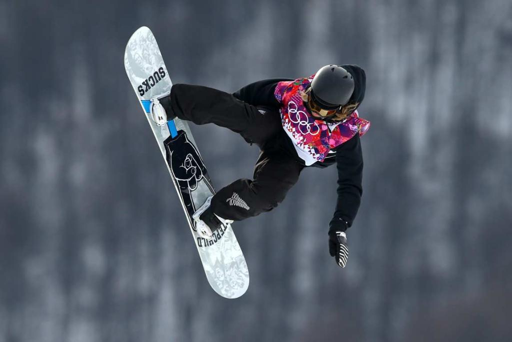 Rebecca Torr competes in the women's snowboard slopestyle semifinals.