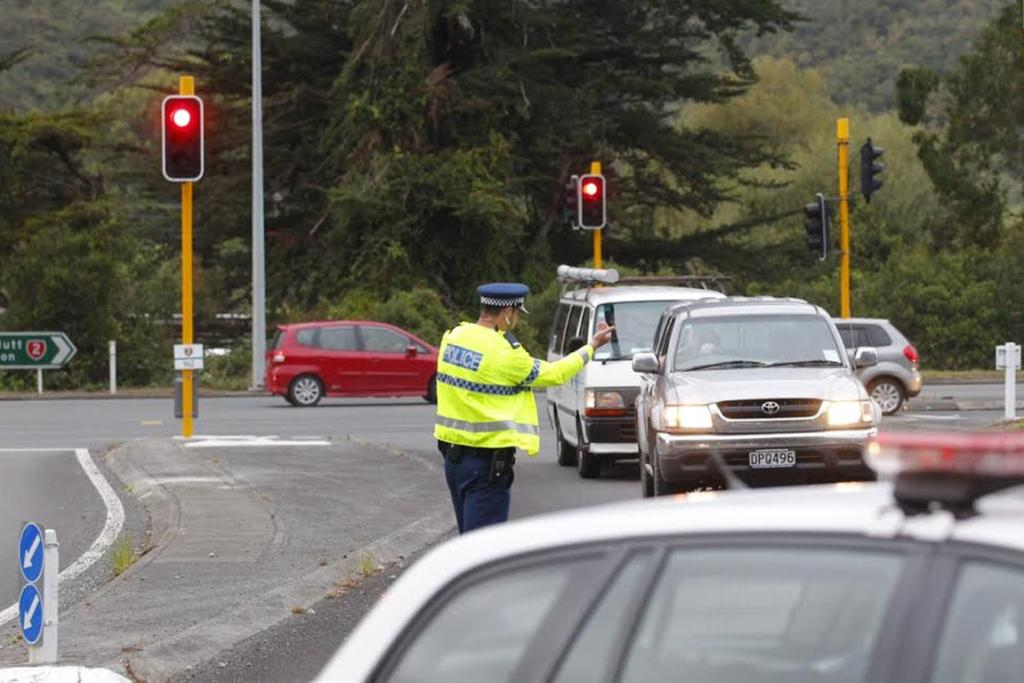 Police divert traffic after the crash on Haywards Hill Road.