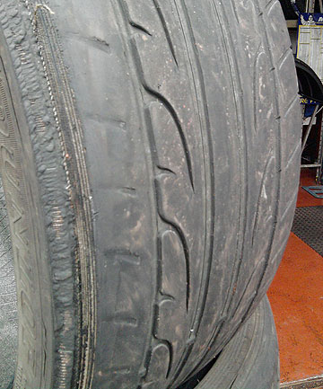 UNDER INSPECTION: Bald tyres will be a part of the  five-point Twirl inspection test. The penalty for a bald tyre is $150.