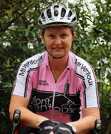 GAINING CONFIDENCE: Marie Taylor was involved in a cycling accident in Swanson three years ago and still thinks about it every time she gets on her bike.