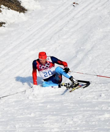 OLYMPIC SPIRIT: A Canadian coach came to the rescue of a Russian cross-country skier with a broken ski.