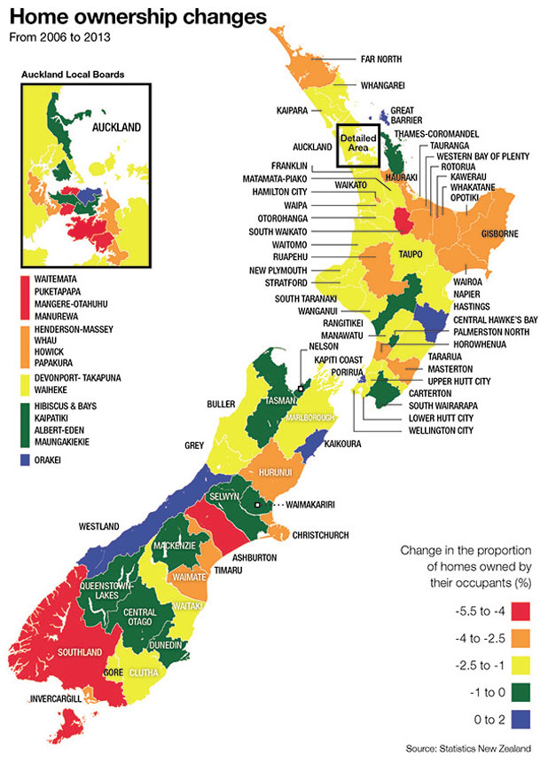 NZ home ownership map
