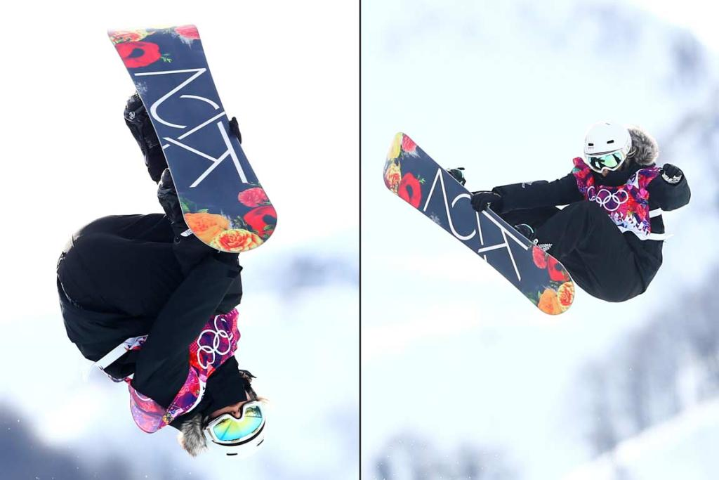 New Zealand's Bex Sinclair competes in the women's snowboard halfpipe qualifying at Rosa Khutor.