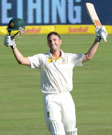 SAVIOUR: Shaun Marsh struck 122 from 232 balls on the opening day of the first test against South Africa, to rescue Australia's innings from early trouble.