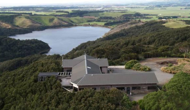 James Cameron's Lake Pounui home