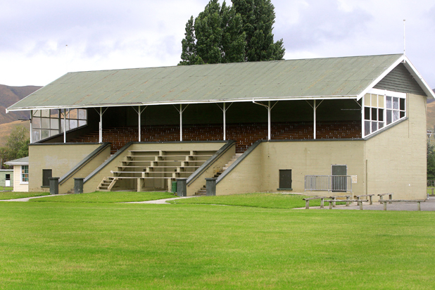 The grandstand at A & P Park in Blenheim