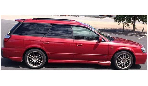 SIGHTINGS WANTED: Missing woman Lesley Rimington, 51, is believed to be driving a 2001 red Subaru Legacy similar to this one.