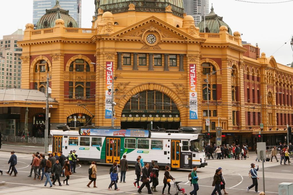 Flinders Street Station: Victoria's iconic home of travel, the main station building has  stood for more than 100 years.