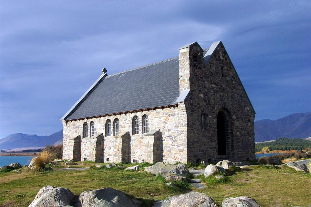 The Church of the Good Shepherd makes a great photographic subject at all times of the day.