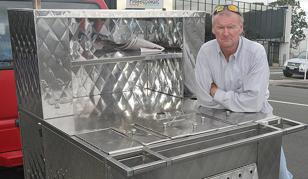 Doggone: Someone has stolen John Roach's hot dog cart, leaving him to try and continue his business with this older, backup cart.