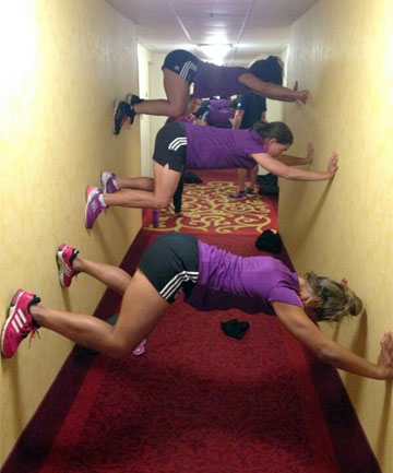 REVOLUTIONARY TRAINING: The New Zealand Women's Sevens team had to get creative in their training ahead of the Atlanta Sevens this weekend.