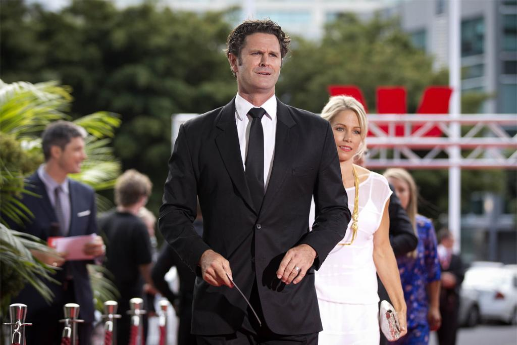 Former New Zealand cricketer Chris Cairns on the red carpet.