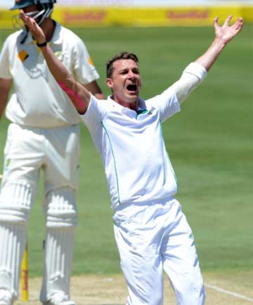 FINISHING THE TAIL: South African paceman Dale Steyn, who claimed Australia's last three wickets, appeals for an LBW decision.