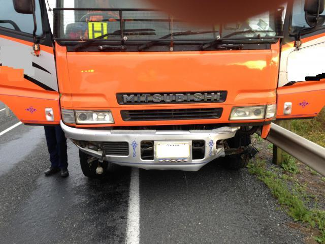 Damage to the underside of the truck.