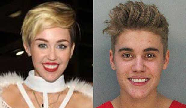 Justin Bieber and Miley Cayrus