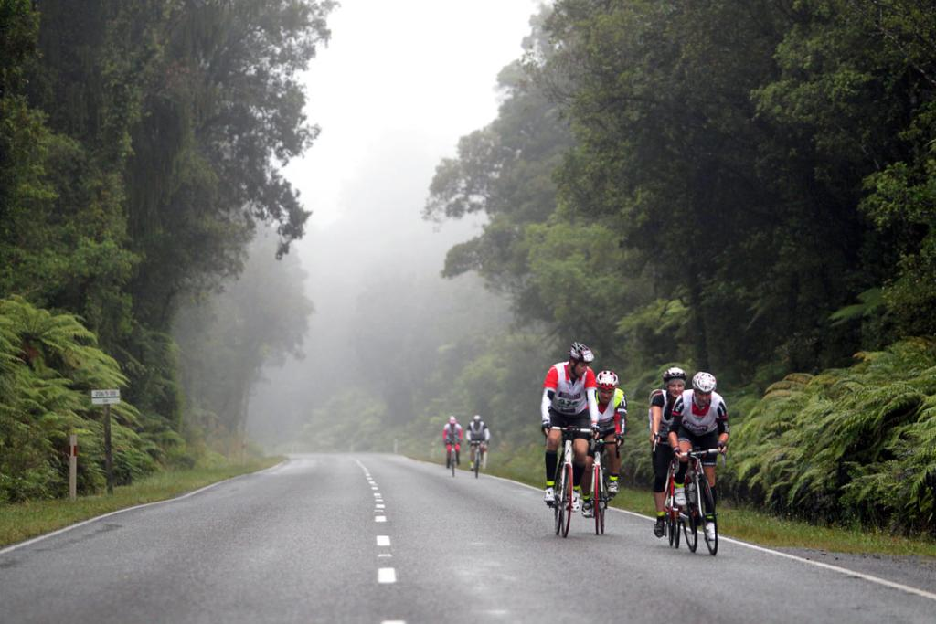 MIST: Cycling from Kumara to Deception Bridge.