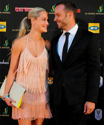 HORRIFIC ENDING: Reeva Steenkamp and Oscar Pistorius.
