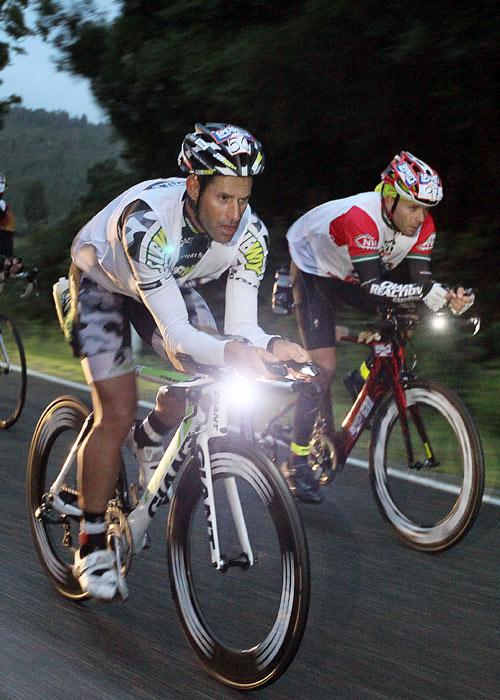RACE ON: Richard Ussher (L) cycling from Kumara in the Coast to Coast Individual One Day event.