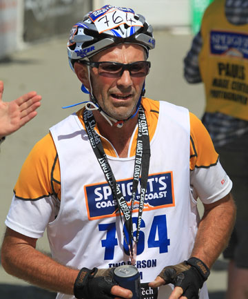 HARD YARDS: Peter King finished the annual Coast to Coast race as a part of a two-man team, despite almost losing his leg in a work accident in October, 2012.