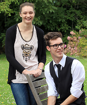 TALENTED TEENS: They were identified at age 5 as gifted and talented at their Christchurch primary school and now Clara Todd, 18, and Ben Murray, 18, are among the country's top scholars.