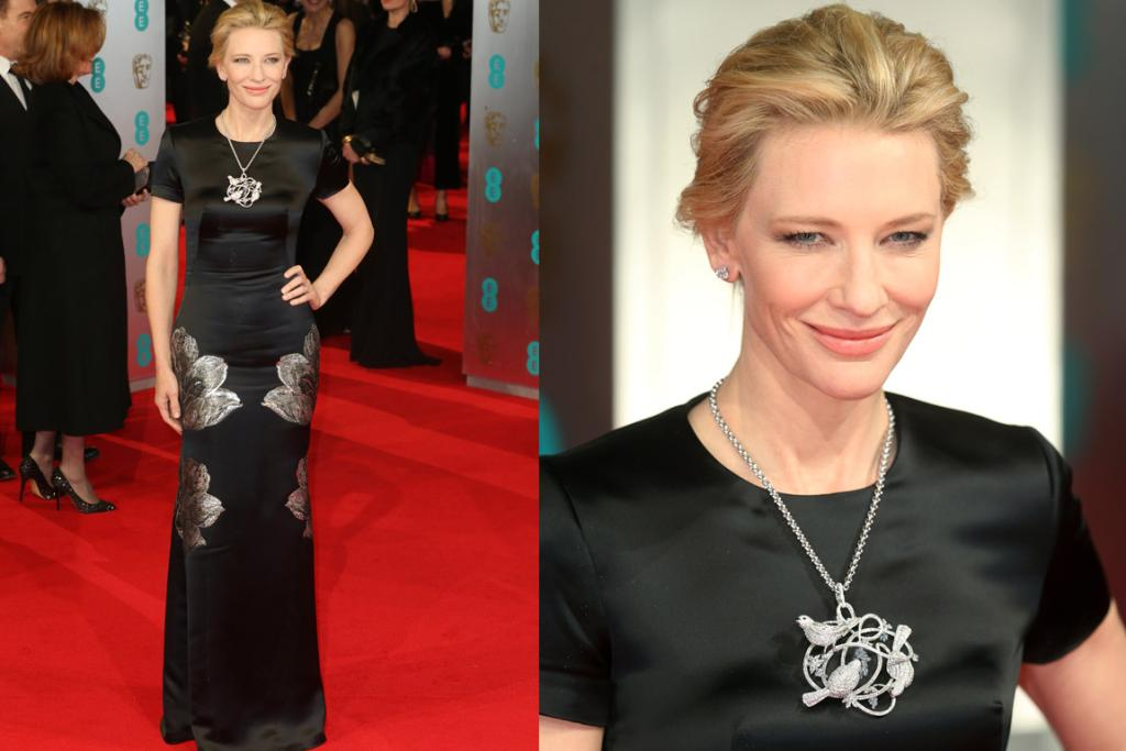 THE GOOD: This isn't bad, but I'm overall feeling quite neutral about Cate Blanchett in Alexander McQueen. I love that Chopard necklace, but find it a touch matchy-matchy with the dress' silver floral print. I think if the dress was in chartreuse or something I'd be feeling more style-crush palpitations right now. Thoughts?
