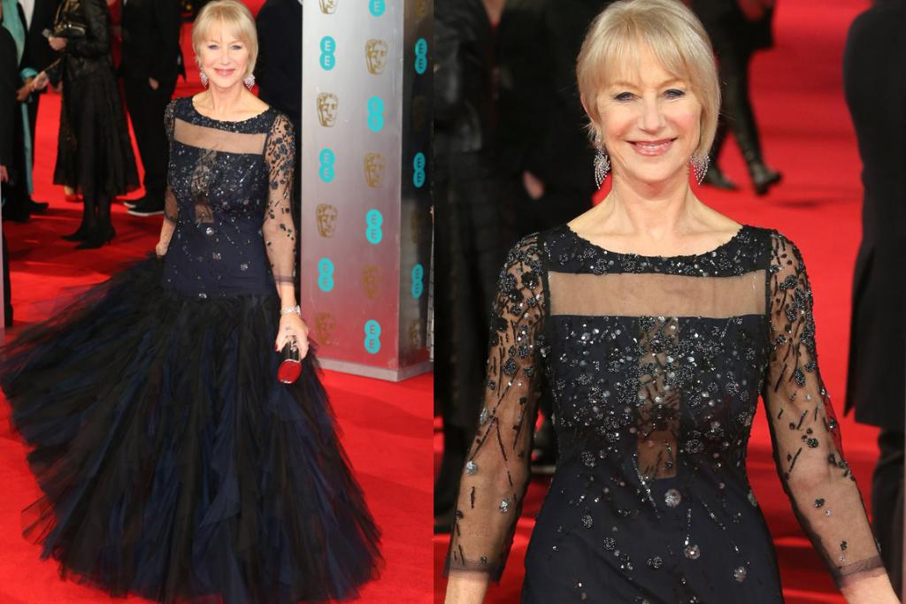 THE MEH: Now, there's absolutely nothing wrong with this. Helen Mirren looks perfectly fine. But, you know what, fine's no longer good enough for a Dame that usually knocks it out the park. It's like if Kieran Read has a 'good' game. First things first, her assymetrical hair is very early-2000s hairdresser (in a suburban salon); secondly, I find the details on this dress just confusing and the drop-waist ruffles are not my favourite. If another 68-year-old actress turned up looking like this, I'd probably say, 'yeah, good on them', but Helen's not 'another-68-year-old actress'. She's the Kieran Read of 68-year-old style stars.